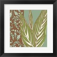 Framed Nouveau Leaves II