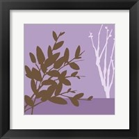 Framed Metro Leaves In Violet I