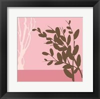 Framed Metro Leaves In Pink II
