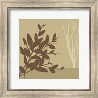 Framed Metro Leaves In Khaki I