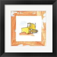 Charlie's Bulldozer Framed Print