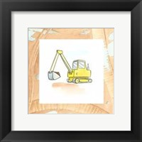 Framed Charlie's Backhoe