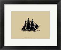Ship Silhouette III Framed Print