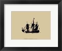 Ship Silhouette IV Framed Print