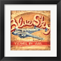 Framed Blue Sky Travel