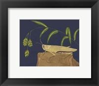 Framed Ornamental Grasshopper II