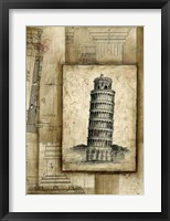 Framed Passport To Pisa
