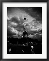 Framed Nuit Orageuse Au Tour Eiffel