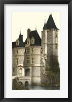Framed French Chateaux In Blue II