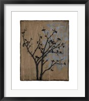 Branch In Silhouette I Framed Print
