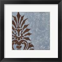Silver Damask I Framed Print