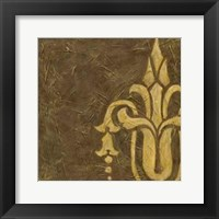 Gold Damask II Framed Print