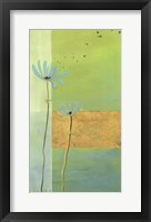 Blue Seedlings I Framed Print
