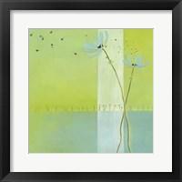 Framed Blue Seedlings IV