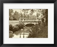 Framed Sepia Garden View V