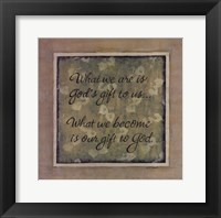 What We Are Framed Print