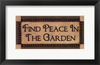 Framed Peace In The Garden