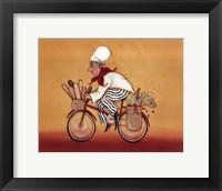 Biking Chef Framed Print