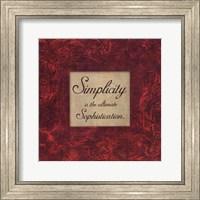 Framed Simplicity - red
