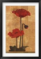Framed Golden Poppy II