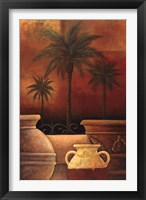 Sunset Palms II Framed Print