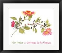 Framed Ladybugs In The Garden