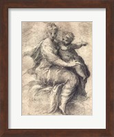 Framed Madonna and Child On The Clouds