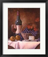 Framed Wine & Grape I