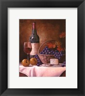 Wine & Grape I Framed Print