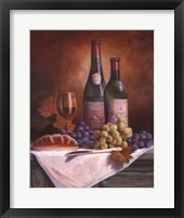 Framed Wine & Grape II