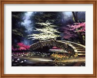 Framed Dogwood and Waterlilies
