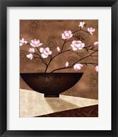 Framed Cherry Blossom in Bowl