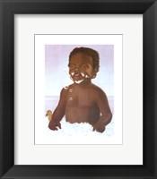 Framed Bubble Bath Boy