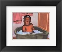 Framed Bath Time Girl