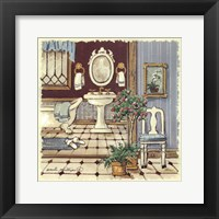 Framed Antique Bath I