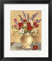 Framed Flowers On Lace 2