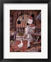 Framed Chef With Goose