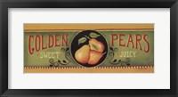 Framed Golden Pears