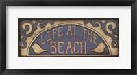 Life At the Beach Framed Print