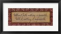 Without Faith Framed Print