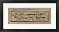 Framed God Gives Us Memories