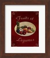 Framed Fruits Et Legumes