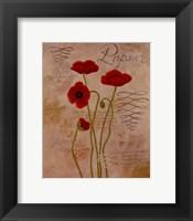 Framed Poppy Fresco I