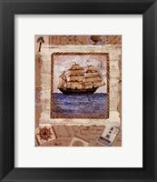 Framed Ship To Shore I
