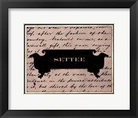 Settee Framed Print