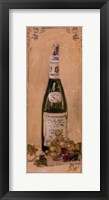 White Wine With Grapes Framed Print