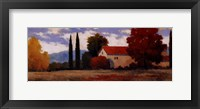 Framed Burgundy Farmhouse I
