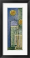 Framed Blooms On Blue II