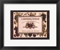 Champagne Label II Framed Print