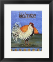 Framed Welcome - Rooster